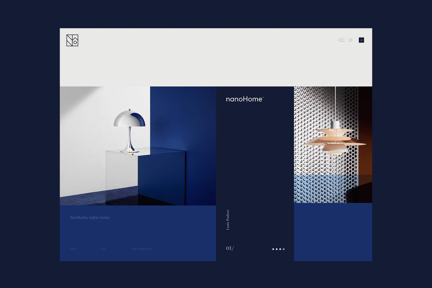 nanoHome webpage design